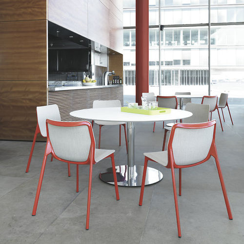 contemporary bistro table / HPL / round / square
