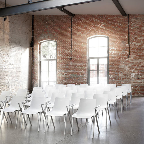 Conference chair with armrests / stackable / plastic AULA  Wilkhahn