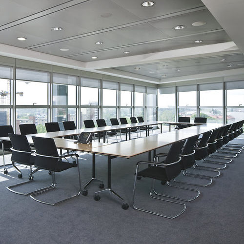 contemporary boardroom table / wooden / rectangular / for public buildings
