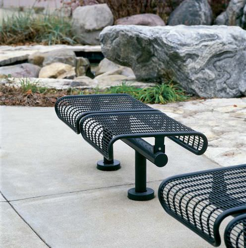 Metal beam chairs / 4-seater / outdoor PLEXUS by Arno Yurk landscapeforms