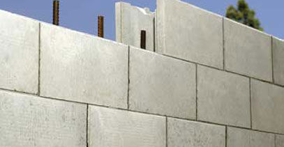 hollow concrete block / for load-bearing walls / for retaining walls