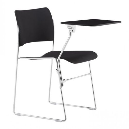 contemporary conference chair / tablet / sled base / plastic