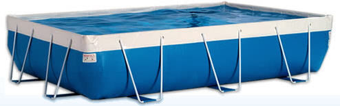 above-ground metal frame swimming pool BABY LAGHETTO