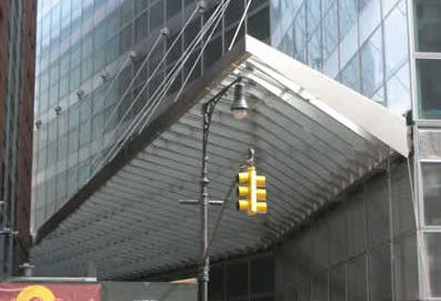 aluminium entrance canopy (glass cover) GOLDMAN SACHS McMullen Architectural Systems Ltd.