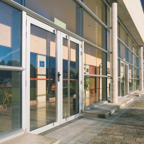 aluminium entrance door for commercial buildings MILLENNIUM 2000 Cortizo