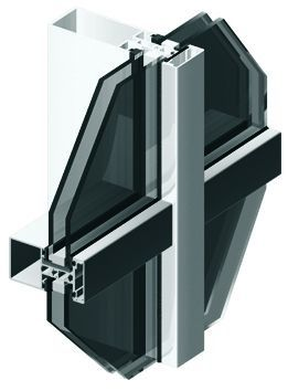 aluminium profile for mullion and transom curtain wall MB-SR50 Aluprof S.A