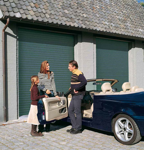 aluminium roll-up garage door GARAROL STANDARD BUILDING PLASTICS &amp; ALUMINIUM FRANCE