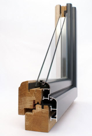 aluminium-wood double glazed casement window MIXTHERM Menuiserie David