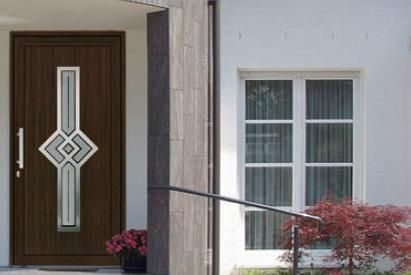 Aluminum door / entrance - WOOD DECORATION DESIGN - HAAS HOCO ITALIA