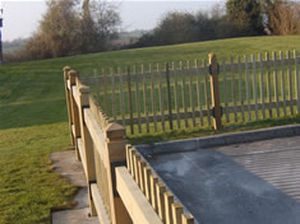 bar fence Q-DECK PLUS® Hoppings Softwood Products Plc