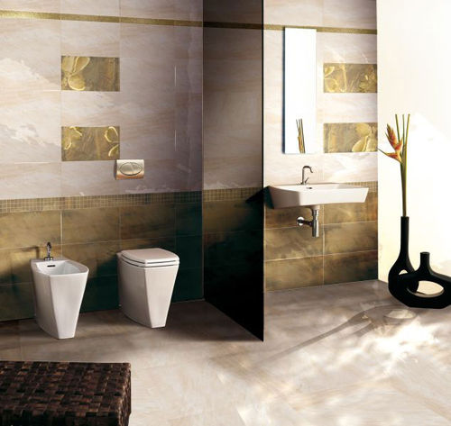 bathroom ceramic floor tile: stone look AVORIO  BRENNERO