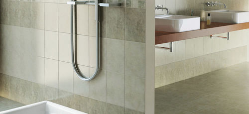 bathroom porcelain stoneware floor tile: stone look GLITTER MARAZZI