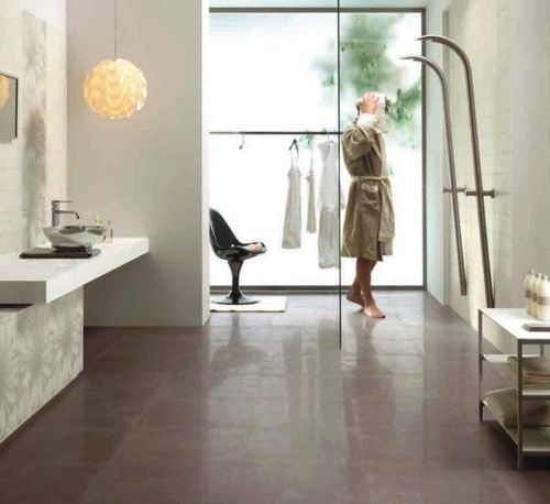 bathroom stone look porcelain stoneware tile ARK : LIME CASTELVETRO