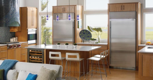 built-in energy efficient side by side refrigerator (Energy Star certified) BI-36F SUB-ZERO