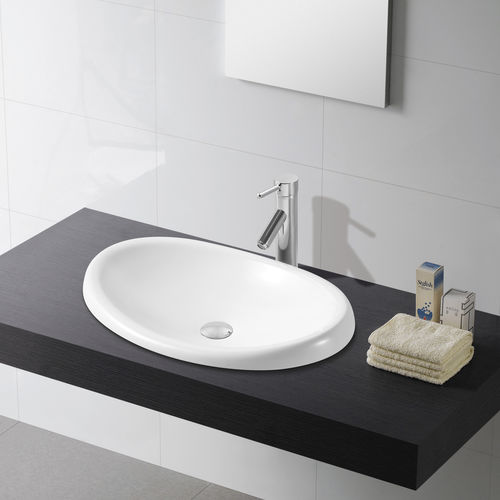 built-in porcelain washbasin ELLIPSE The Bath Collection