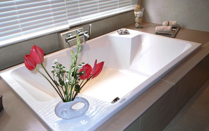 built-in two seater rectangular bath-tub PT Volcano Color Couleur Lave