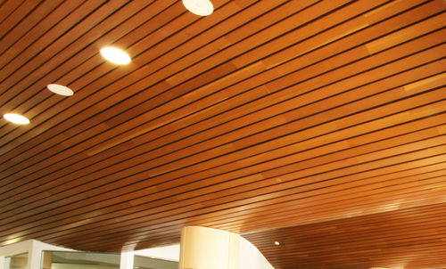 cerified wooden suspended ceiling (FSC-certified) LINEAR Rulon company