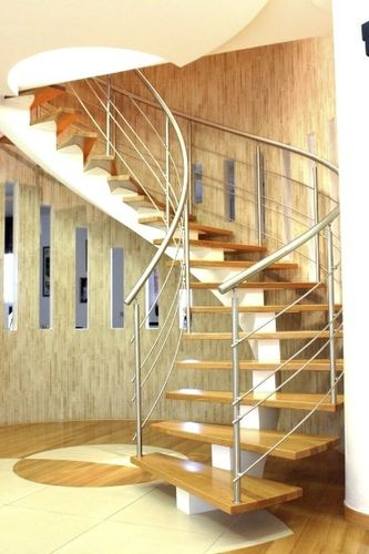 circular staircase with central stringers (metal frame and wooden steps) MARCO POLO G555 essegi scale