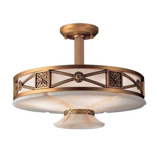 classic style ceiling lamp ALABASTER: MUSE Leds-C4