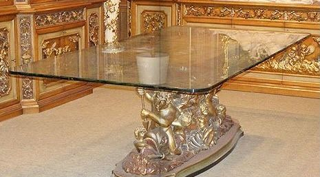classic style glass table 239 F.lli Bazzi s.n.c. di Bazzi Giancarlo &amp; C.