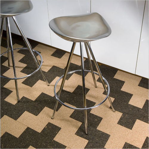 colored natural cork flooring MODUTILE by Jaime Salm and Hannah Berkin-Harper MIO