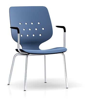 commercial chair with armrests SILIFORM TU Sittris