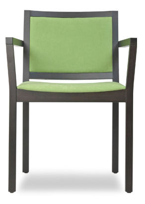 commercial chair with armrests B ARM by Tom Kelley The Chair Factory