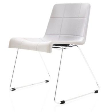 commercial contemporary sled base chair MILLIBAR by Anya Sebton Lammhults M&ouml;bel AB