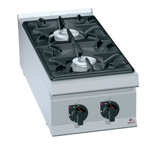 commercial gas range cooker LXG9F2 BERTO'S SPA