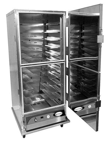 commercial heated holding cabinet with casters HC70-MP12INS BEVLES
