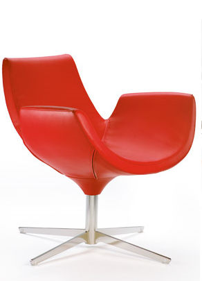 commercial leather armchair BEETLE by Giancarlo Bisaglia The Chair Factory