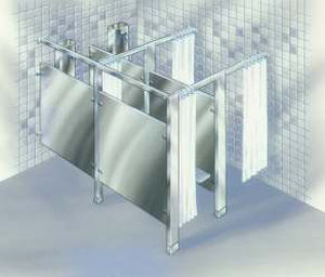 commercial shower partition  450MS Acorn