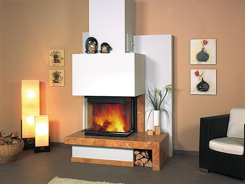 contemporary 3 sided fireplace (wood-burning closed hearth) 1/165.0  Hark GmbH & Co. KG