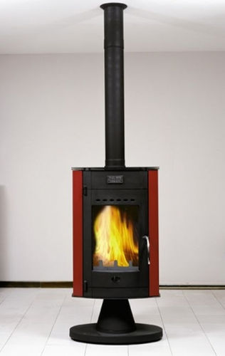 contemporary central wood-burning stove OLOFEN CHEMINEES PHILIPPE