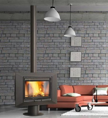 contemporary central wood-burning stove EMERAUDE Wanders