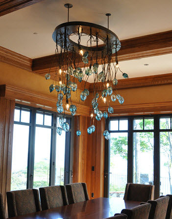 contemporary chandelier VINE AND FACETS Studio Bel Vetro
