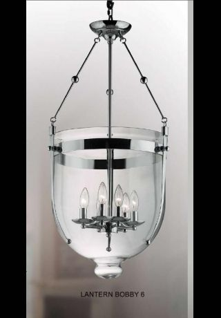 contemporary chandelier (chrome) LANTERN BOBBY 6C UNITED LIGHTS
