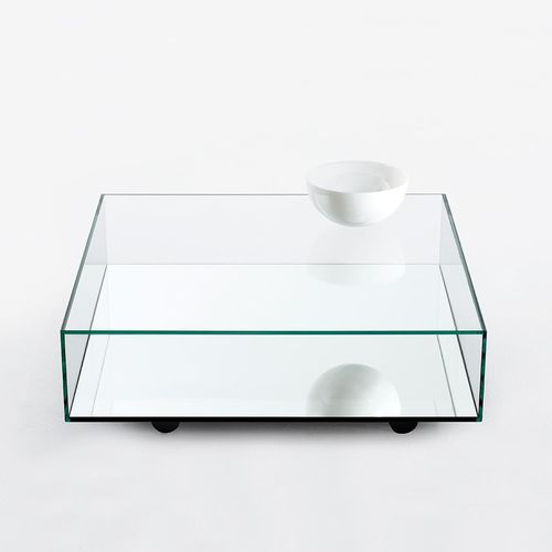 contemporary coffee table with casters REFLECT BENSEN