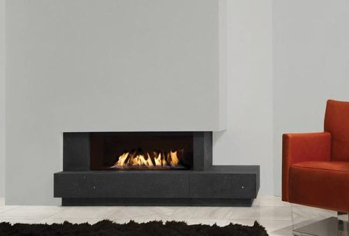 contemporary corner fireplace (gas closed hearth) FAIRO 100 Kal-fire