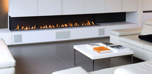 contemporary corner fireplace (gas open hearth) LINE  Waco & C°