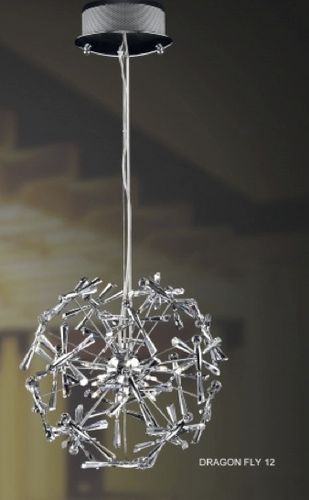 contemporary crystal pendant lamp DRAGON FLY 12H (BALL) UNITED LIGHTS