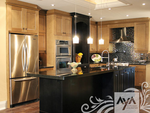 contemporary eco-friendly kitchen in certified wood (FSC Eco-label) ARLINGTON BLACKENED UMBER & CHURCHILL EBONY MAPLE AYA kitchens