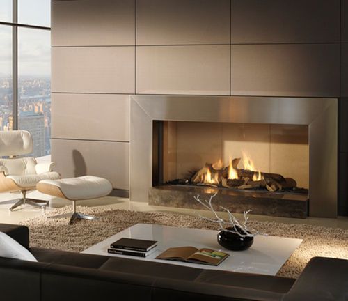 contemporary fireplace (gas closed hearth) COSMO Platonic Fireplace