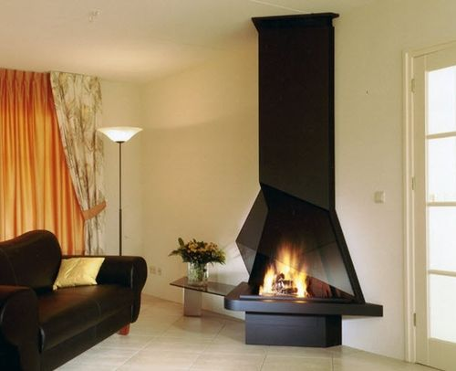 contemporary fireplace (wood-burning open hearth) CV 015 BLOCH DESIGN