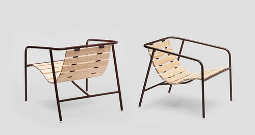 contemporary garden armchair CRATE by Jasper Morrison  Established and sons