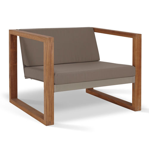 contemporary garden armchair (teak) POLTRONA LOUNGE TEAK easy chair FueraDentro