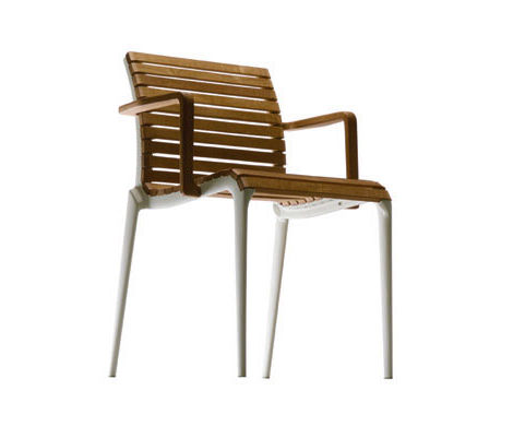 contemporary garden chair by Alberto Meda TEAK ALIAS
