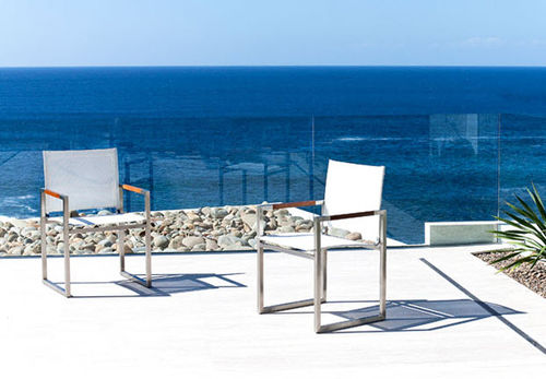 contemporary garden chair with armrests GARDEN COURT Harbour Outdoor