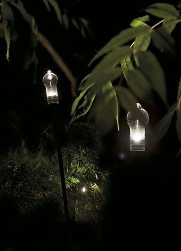 contemporary garden lamp post ALVALINE: LUCCIOLA by Mario Nanni Viabizzuno