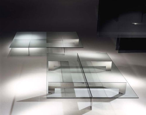 contemporary glass coffee table BRIDGE by Mauro Lipparini ORSENIGO
